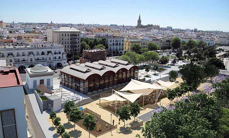 Mercado del barranco en Sevilla