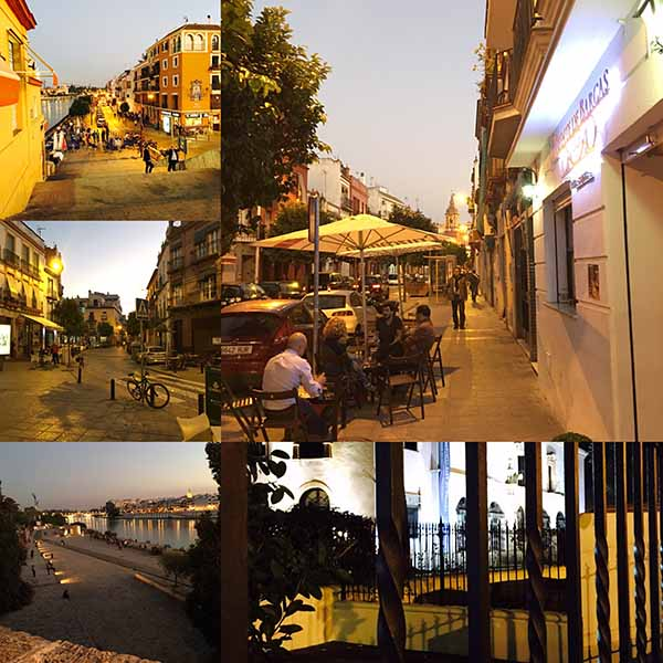 Barrio de triana en Sevilla