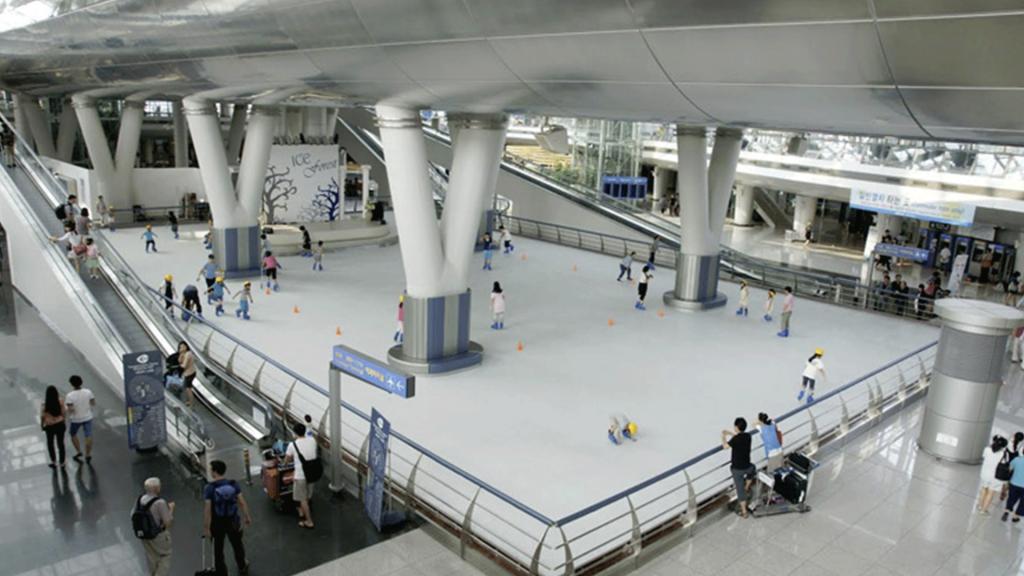 patinar en el aeropuerto
